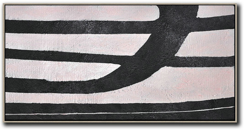 Hand-Painted Oversized Horizontal Minimal Art On Canvas,Hand Painted Acrylic Painting #Z4T4