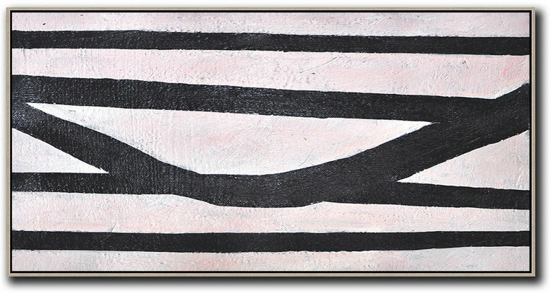 Hand-Painted Oversized Horizontal Minimal Art On Canvas,Handmade Acrylic Painting #B8R8