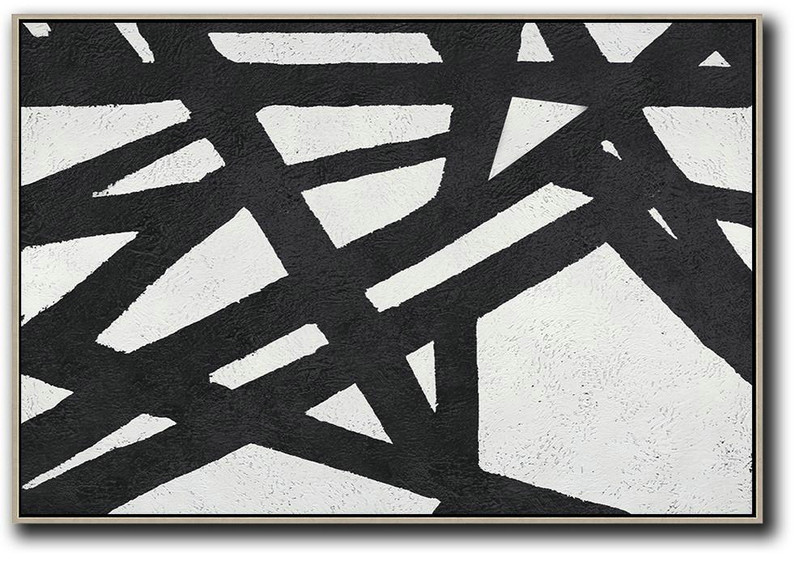 Oversized Horizontal Minimal Art On Canvas,Acrylic Painting On Canvas #P3I3