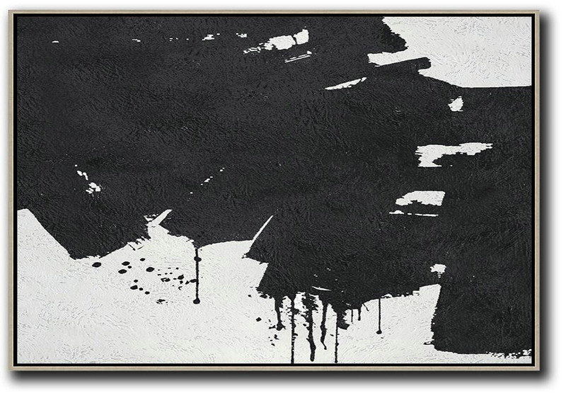 Oversized Horizontal Minimal Art On Canvas,Pop Art Canvas #J8B4