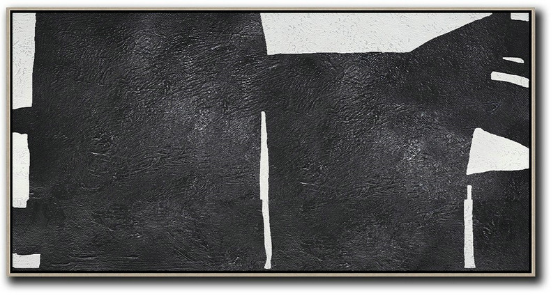 Oversized Horizontal Minimal Art On Canvas,Hand-Painted Canvas Art #R4E1
