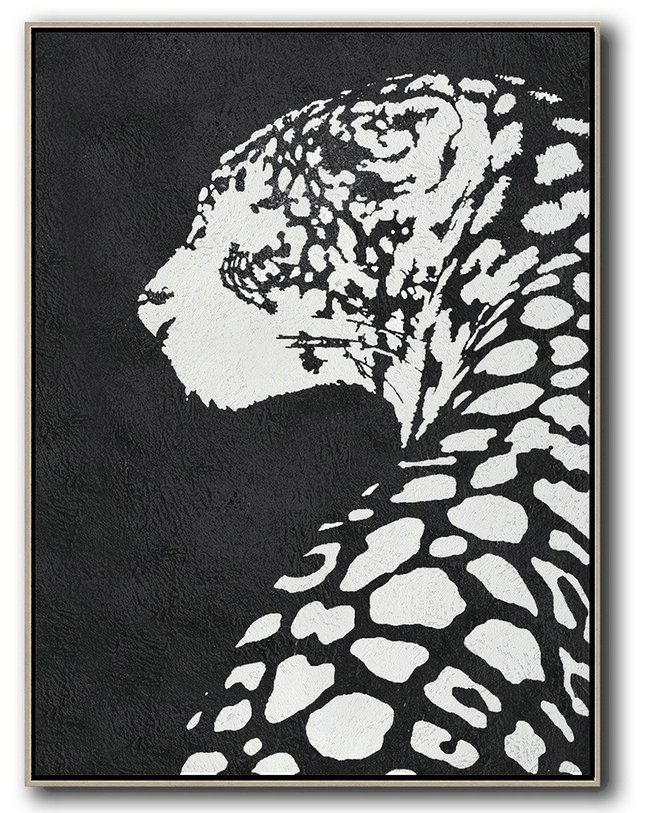 Black And White Minimal Painting On Canvas,Canvas Artwork For Living Room #C1J2