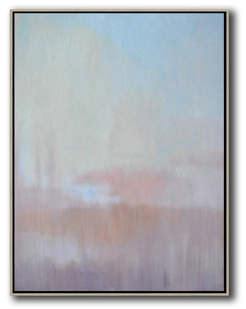 Abstract Landscape Painting,Abstract Paintings On Sale Sky Blue,Light Yellow,Pink