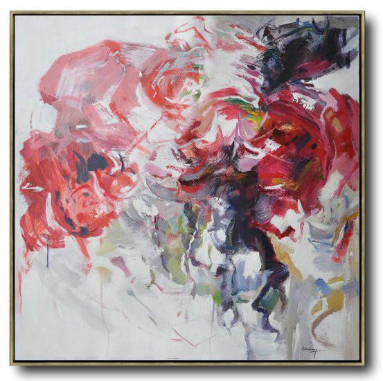 Abstract Flower Oil Painting Large Size Modern Wall Art,Hand Painted Acrylic Painting #E3S0