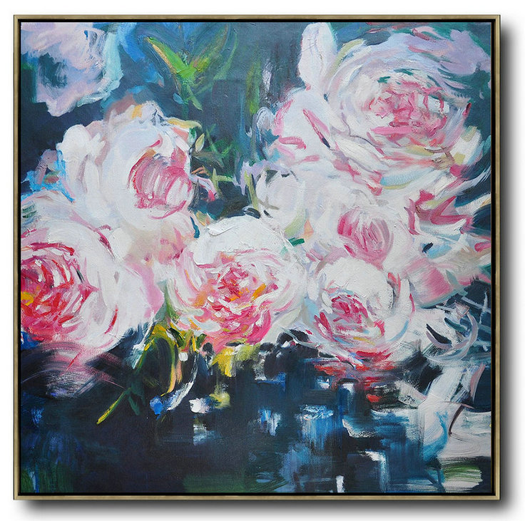 Abstract Flower Oil Painting Large Size Modern Wall Art,Large Canvas Art #R0A3